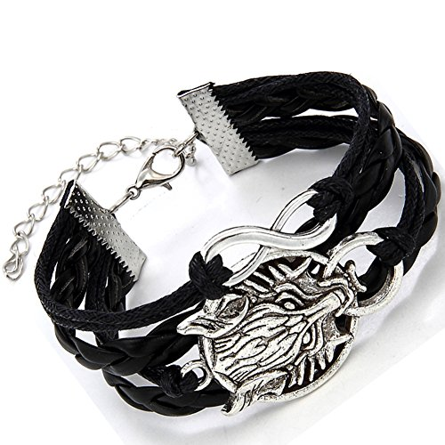 Flongo Silver Braided Leather Bracelet