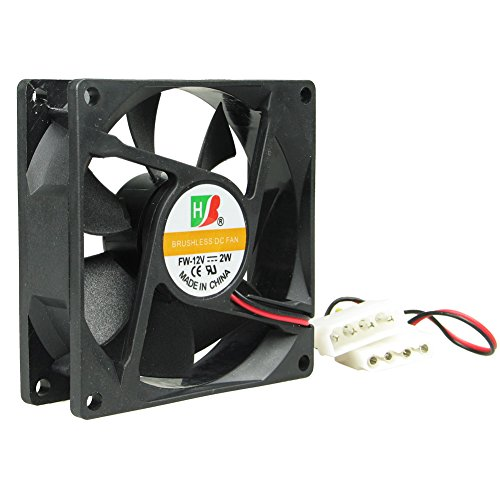 VERY100 DC CPU for PC Cooling Coller 8025 Fan Brushless 80mm x 80 mm x 25 mm 12V