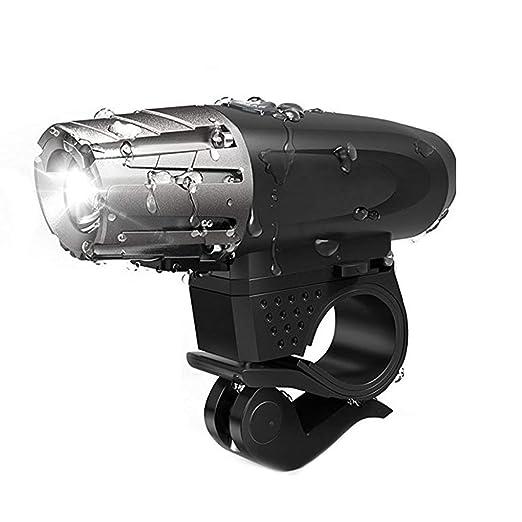 Uzinb USB Recargable luz de la Bici Potente lúmenes Linterna de la ...