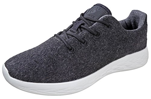 - Urban Fox Mens Parker Wool Sneakers | Wool Shoes | Runners Running Shoes | Walking Shoe for Men | Charcoal/White 7