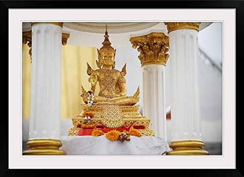 GreatBIGCanvas ''Small Gold Seated Thai Buddha '' Photographic Print with black Frame, 36'' X 24''''