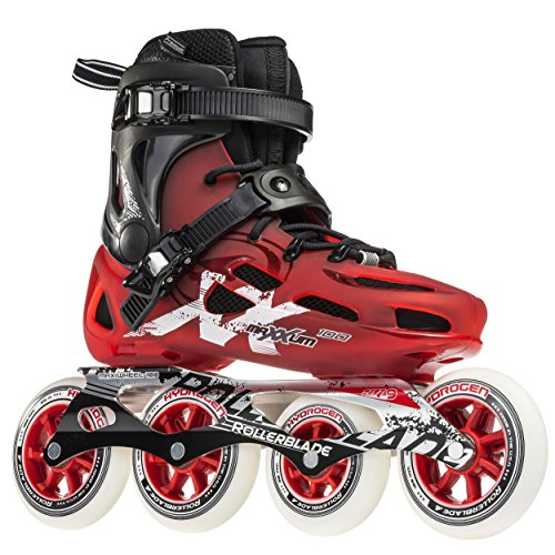 Rollerblade Maxxum 100 Unisex Adult Fitness Inline Skate, Red and Black, Premium Inline ()