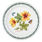 Portmeirion Exotic Botanic Garden Dinner Plate with Hibiscus Motif, Set of 6