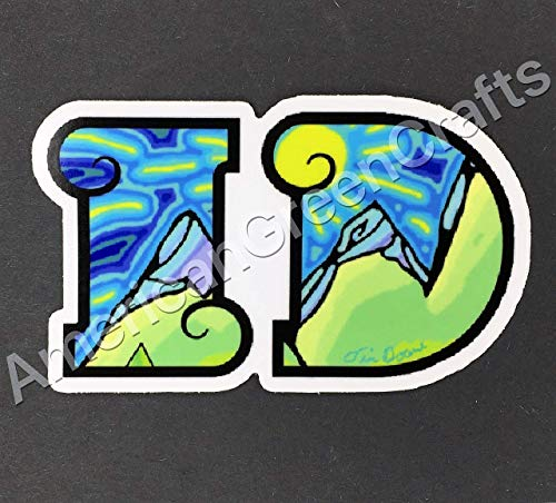 Colorful Idaho Sticker, Idaho, Idaho Bumper Sticker for sale  Delivered anywhere in USA