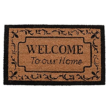 Milliard 'Welcome to our Home' Coco Coir Doormat Outdoor / Indoor for Entrance Way - 18in.x30in.