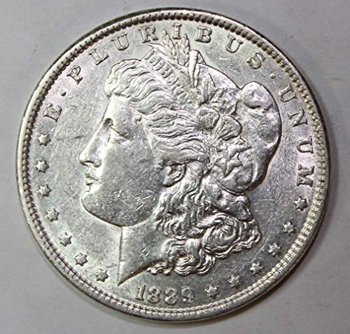 1889 P Morgan Silver Dollar $1 About Uncirculated