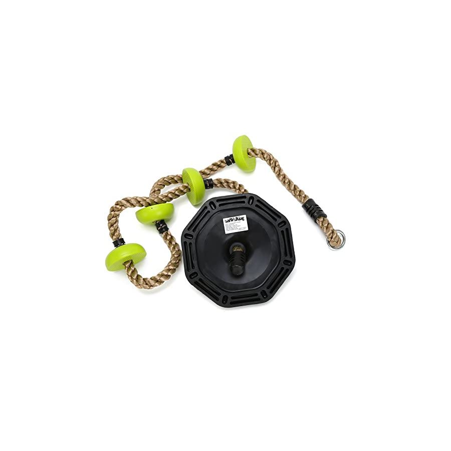 antWalking Children Physical Training Fitness Swing Climbing Rope Plastic Knot PE Rope with Rubber Base Mount Outdoor Sports Combo Set