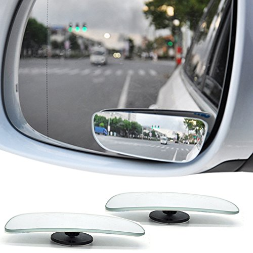 Price comparison product image BluEye 1 Pair Square Blind Spot Mirror 360° Rotates ABS Glass Wide Mirror For All Universal Vehicles Car Fit Stick-on Design (Pack of 2)