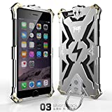 Iphone 6 Plus 6s Plus Case, Lwang Outdoor Sports Strong Protective Case for Iphone 6 Plus 6s Plus,[tempered Glass Screen Protector][silicone Case][aviation Aluminum Cover] (Thor Silver/black)