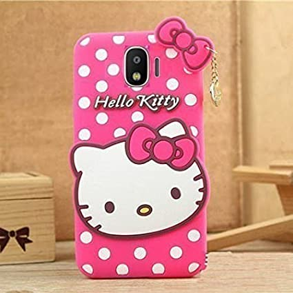 b3d98c75d Finaux 3D Cute Hello Kitty Silicone with Pendant Back: Amazon.in:  Electronics