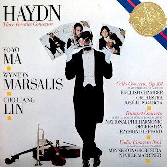 Haydn Three Favorite Concertos: Yo-Yo Ma / Wynton Marsalis / Cho-Liang Lin / Cello Concerto, English Chamber Orchestra José-Luis Garcia / Trumpet Concerto National Philharmonic Raymond Leppard / Violin Concerto Minnesota Orchestra Neville Marriner