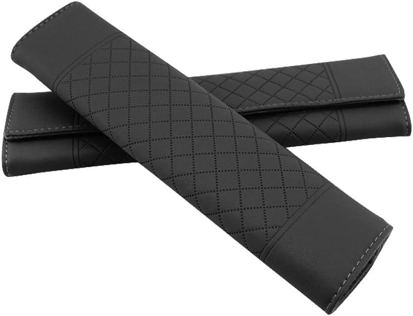 Encell PU Grid Seat Belt Pad Shoulder Strap,Black