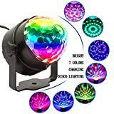 Party lights LED Disco Ball Light Sound Activated with Remote,7 Colors Multi Color Rotating Crystal Magic Ball DJ Lights Strobe Lights Show for Dance Karaoke DJ Bar Wedding