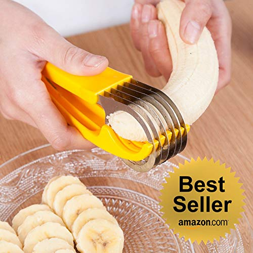 2019 Best Selling Cool Kitchen Gadgets Banana Cucumber Sausages - Fruits & Vegetables Slicer - Cutter with FREE Ice Cream Scoop ()