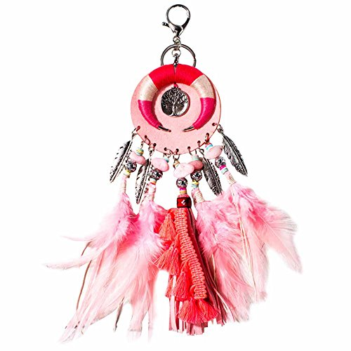 - BAOBAO Handmade Dream Catcher Feather Tassel Shell Keychain Car Handbag Purse Keyring