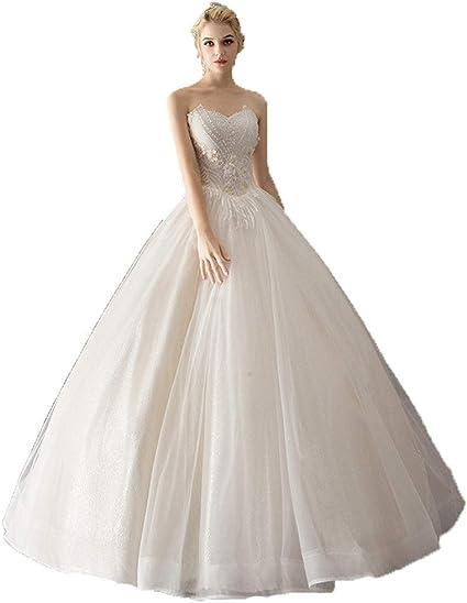 robe de mariée princesse bustier en dentelles et tulle douce