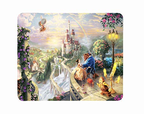 (Computer Laptop Mousepad Mat Mouse Pad Beauty Cartoon Beast Birthday Christmas Valentine Anniversary Halloween Kids Gift)