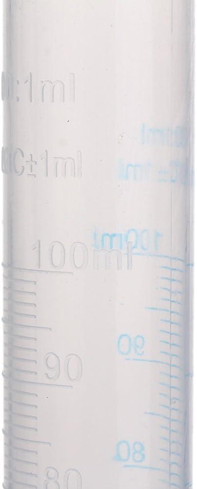 mxfans Kunststoff Messzylinder Lab Doppelter Graduated Fl/üssigkeit Trial Tube 100/ml 2