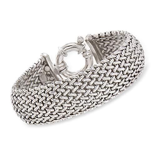 Ross-Simons Italian Sterling Silver Riso Bracelet