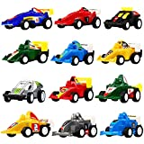 Pull Back Vehicles,12 Pack Assorted Race Car Toy,Yeonha Toys Racing Vehicles Mini Car Toy For Kids Toddlers Boys,Pull Back And Go Car Toy Play Set