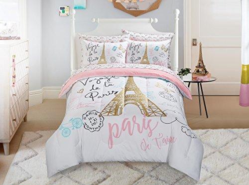 - Heritage Kids Bonjour Comforter Set, Twin