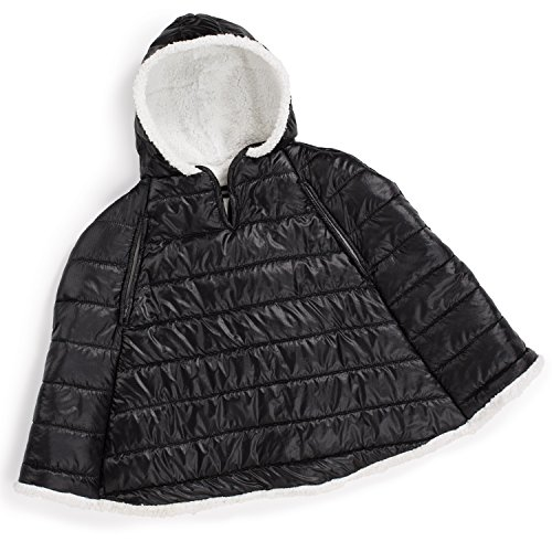 Summer Infant Car Seat Coat and Poncho, Sherpa Puffer,Black,One Size