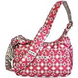Ju-Ju-Be Hobo Be Messenger Diaper Bag, Pink Pinwheels