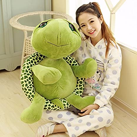 Amazon Com 1pcs 80cm Big Plush Green Turtle Giant Large Stuffed