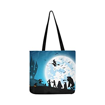 Blue Festival Halloween Conceptfull Moon Canvas Tote Bolso ...