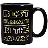 Best Husband in The Galaxy Coffee Mug - 11 oz Funny Romantic Coffee Cup For Him