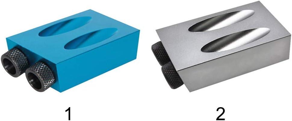 Silver Grey Mini 15/° Angle Screw Set Drill Bit Jig Inclined Hole Wood Carpenters Wood Joint Tool WoodWorking 14 Pcs Pocket Hole Jig Set