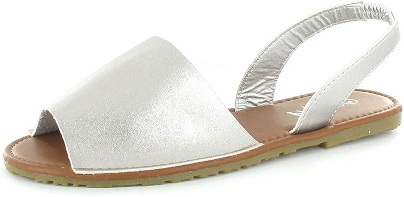 WOMENS LADIES SUMMER MENORCAN SANDALS SLING BACK FLIPFLOP BEACH DRESS SHOES SIZE