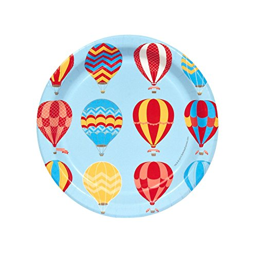 Hot Air Balloon Party Dessert Plates (Balloons Dessert Plate)