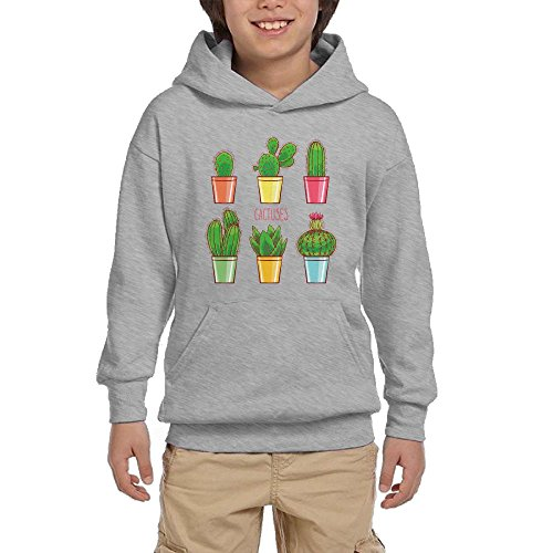 Hot Cactus Succulents Youth Casual With Pocket Hooded Graphic Pullover Sweatshirts free shipping
