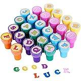 ULTNICE 26 piezas de estampillas de juguetes multicolores sellos de letras de juguete para niños (de la A a la Z)
