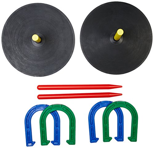 (AmazonBasics Rubber Portable Horseshoe Outdoor Yard Game)