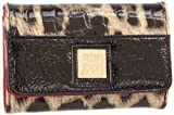 Anne Klein Women's Twinkle Indexer Wallet,Black Natural/Black,One Size, Bags Central