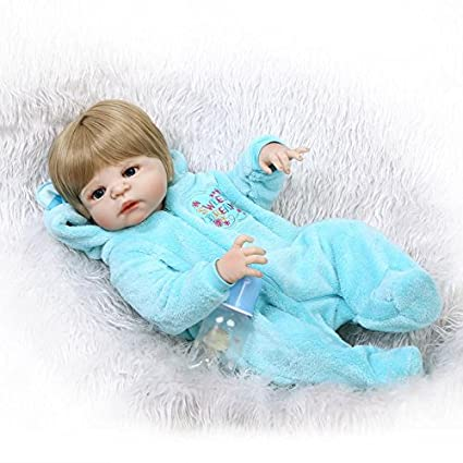Amazon.com: NPK Collection Full Silicona Reborn bebé muñeca ...