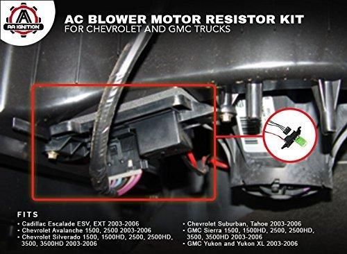Amazon Ac Blower Motor Resistor Kit With Harness Replaces Rhamazon: 2000 Tahoe Blower Motor Resistor Location At Elf-jo.com