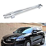 Fit for Jaguar F-Pace F Pace X761 2016 2017 2018 2 Pcs Roof Rail Roof Rack Side Rail Bar