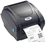 Shipping Label Printer - TSC 99-143A001-00LF Series TDP-244 Direct Thermal Printer, 203 dpi Resolution, 4 ips, USB, Power Supply with Cord, 4 MB Flash Memory, 8 MB DRAM, 108 mm Print Width