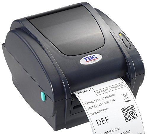 TSC 99-143A001-00LF Series TDP-244 Direct Thermal Printer, 203 dpi Resolution, 4 ips, USB, Power Supply with Cord, 4 MB Flash Memory, 8 MB DRAM, 108 mm Print Width by TSC