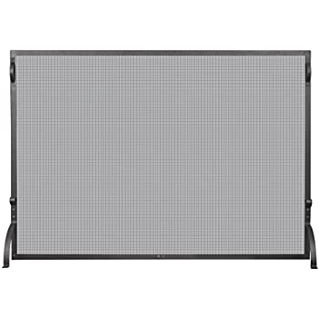Uniflame S-1075 1 Panel Wrought Iron Spark Guard Fireplace Screen