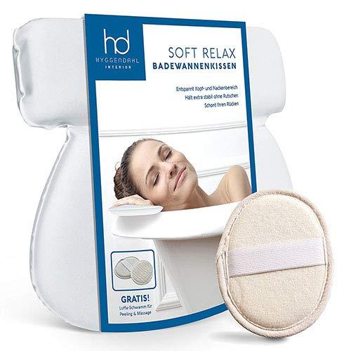 Cuscino da bagno bianco con 7 Ventose | Cuscino poggiatesta per vasca da bagno, Jacuzzi & Whirlpool | Bagno cuscino con spugna da bagno | hyggen Dahl Fa. Thomas Lindberg