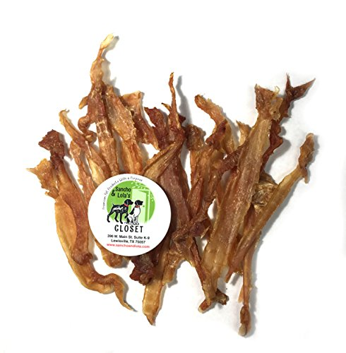 USA Turkey Tendons for Dogs 4oz - Hackberry-Smoked, Human-Grade, Naturally Grain-Free Rawhide Alternative Chews for Small Dogs Made in USA by Sancho & Lola's (TWISTED 8oz is NON-SMOKED)
