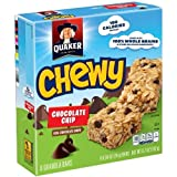 Quaker Oats Chocolate Chip Chewy Granola Bars Chocolate Chip (Pack of 24)