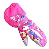Triwonder Waterproof Mittens for 3-12 Years Old Kids Outdoor Warm Gloves Snow Mitts