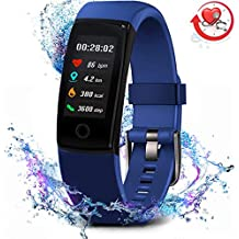 MorePro Fitness Tracker Waterproof Activity Tracker with Heart Rate Blood Pressure Monitor, Color Screen Smart Bracelet with Sleep Tracking Calorie Counter, Pedometer Watch for Kids Women Men