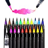 #7: ARTarlei Watercolor Brush Pens, 20 Colors & 1 Refillable Water Pen, Safe for Kids, for Coloring Books, Drawing, Calligraphy, Lettering, Vibrant &Bold Colors and Smoothly The Brush Pen is Very Vivid
