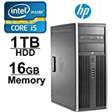 HP 8200 Elite Desktop, Intel Quad Core i5 3.10 GHz, 16GB DDR3, *NEW* 1TB HDD, Windows 7 Pro 64-Bit, WiFi, REFURBISHED